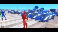 兰博基尼警车和蜘蛛侠的颜色