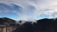 富士山火山口 吸雾