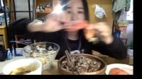 45爱吃饭的妹子 牛肉+龙虾+蒸蛋+米饭+水果零食~ 中国吃播 (暴躁少女出现)_美食圈_生活
