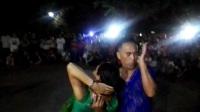 2017年8月24日沈阳创新吉特巴舞团长海、素素老师在鞍山永乐公园倾情表演四步造型舞