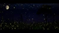 SP0085-夜晚星空下月亮野外郊外虚拟场景演出背景视频素材