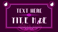 AE模板20个文字标题字幕装饰艺术作品动画