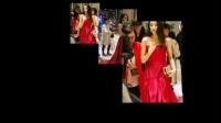 迪丽热巴穿红色长裙出席活动,却因为衣领太低一直用手遮住!
