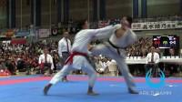 IPPON - JODAN TSUKI (slow motion) Japan vs Belgium - Team Kumite JKA World Ka
