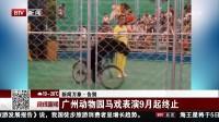 晚间新闻报道20170903广州动物园马戏表演9月起终止 高清