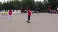 石家庄柔力球国家级教练刘英2位老师在藁城区指导演练2017.8.26