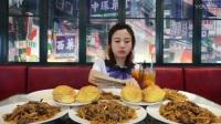 大胃王密子君·6大份干炒牛河+6个菠萝包粤菜·美食吃货吃播_标清