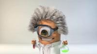 卡通小人疯狂科学家化学试验爆出logo演绎标志展示片头动画AE模板