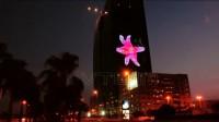 玻璃幕墙LED显示屏 LED透明广告屏 科技艺术炫舞 | 威特姆光电