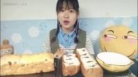 『面包迷妹小七』久违的面包特辑~鸡蛋香松包·口袋三明治·蝴蝶酥·牛奶红豆吐司·没吃完的核桃吐司_美食