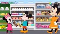 米老鼠动画片:米妮睡觉时宝宝剪坏了头发衣服