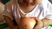 九个月一颗牙,啃苹果杠杠的