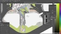 ps景观平面图—材质氛围渲染(广场景观)