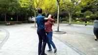 三妹广场交谊舞,慢三,心上人快给我力量,上海甘泉公园拍摄