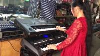 双电子琴演奏视频《采茶扑蝶》