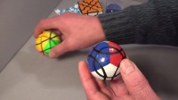 Tony Fisher's Compy Ball puzzle (AKA Badly Stickered Ball)