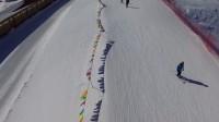 无人机航拍河北省张家口市崇礼区万龙滑雪场 滑雪