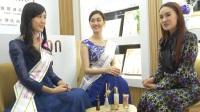 雅蒂化妆品-佳慕连锁蚌埠开业亚洲小姐采访