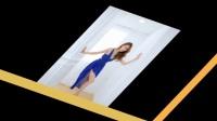 美女御姐风情演绎蓝色长裙写真