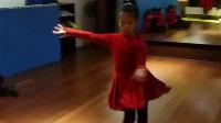 罗雅方表演的恰恰舞考级套路