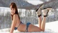 日本女星雪地度假拍摄网友看着都觉得冷