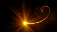 震撼绚丽金色光线粒子拖尾汇聚爱心婚礼开场视频片头ae模板 婚礼开场视频 ae模板片头