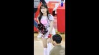 美女啦啦队妹子安吉炫大美腿好身材饭拍-超清