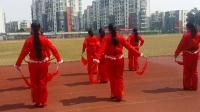 [娱乐视频]女子腰鼓舞《开门红》六合区体育馆广场(逍遥王拍摄)