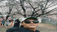 陈伟霆晒樱花树下自拍,网友:明明是在偷拍身后的两位小美女!