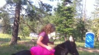 美女骑马 (4)