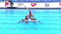 017布达佩斯游泳世锦赛花样游泳女子自由自选组合决赛片段之43