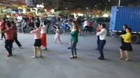 惠州舞蝶广场舞蹈队《交谊舞慢四.基本步》现场练习中