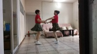 泥河姐妹广场舞双人对跳恰恰舞《姑娘你真美》演示:黄定英  永英
