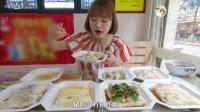 中国吃播, 大胃王美女吃8份肠粉, 只是开开胃而已~