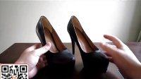 欧美新款真皮女鞋防水台夜店高跟鞋细跟高跟单鞋女裸色鞋