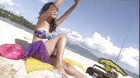 浪人情歌沙滩泳装美女 双电子琴伴奏视频
