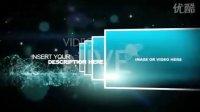 AE模板 梦幻光效粒子震撼展示LOGO图片字幕介绍 企事业宣传栏目包装片头特效