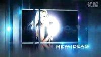震撼绚丽光效粒子AE模板 字幕介绍片头特效 开场 图片视屏展示模板