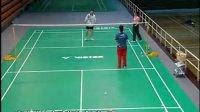 肖杰教打羽毛球系列之1   后场正手两步起跳步法反手前场发力方法如何改正挥拍动作