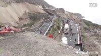 131230现场实拍墨西哥高速公路发生剧烈坍塌 场面震惊