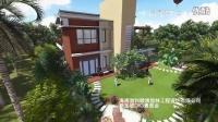 海南海口热带园林景观设计 万科浪琴湾别墅效果图动画 新加坡道和景观(DAWHOO)