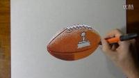 【藤缠楼】意大利立体画家手绘超级碗橄榄球3D画 [Marcello Barenghi]