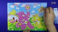 亲子游戏 小熊钻石画 爱乐家园 白雪公主 智力手工小熊维尼