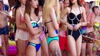 滿屏都是球!2016武汉全球比基尼小姐海选挤胸露背