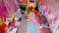 洛可可,芭比娃娃的家自制,又添加了几样家具