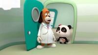 小猫发烧熊猫宝宝护士假装玩医生玩具儿童歌曲