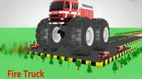 儿童趣味小汽车玩具认识不同颜色汽车玩具搅拌车校车消防车