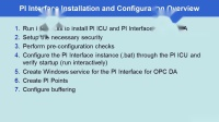 No.20 PI Admin I - Installing a PI Interface, PI ICU and PI API for WIS