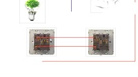 2个带插座的开关怎么控制一个灯?实物接线图一看就懂视频图片