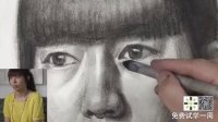 素描头像技法,素描真人头像写生,素描基础,素描教学